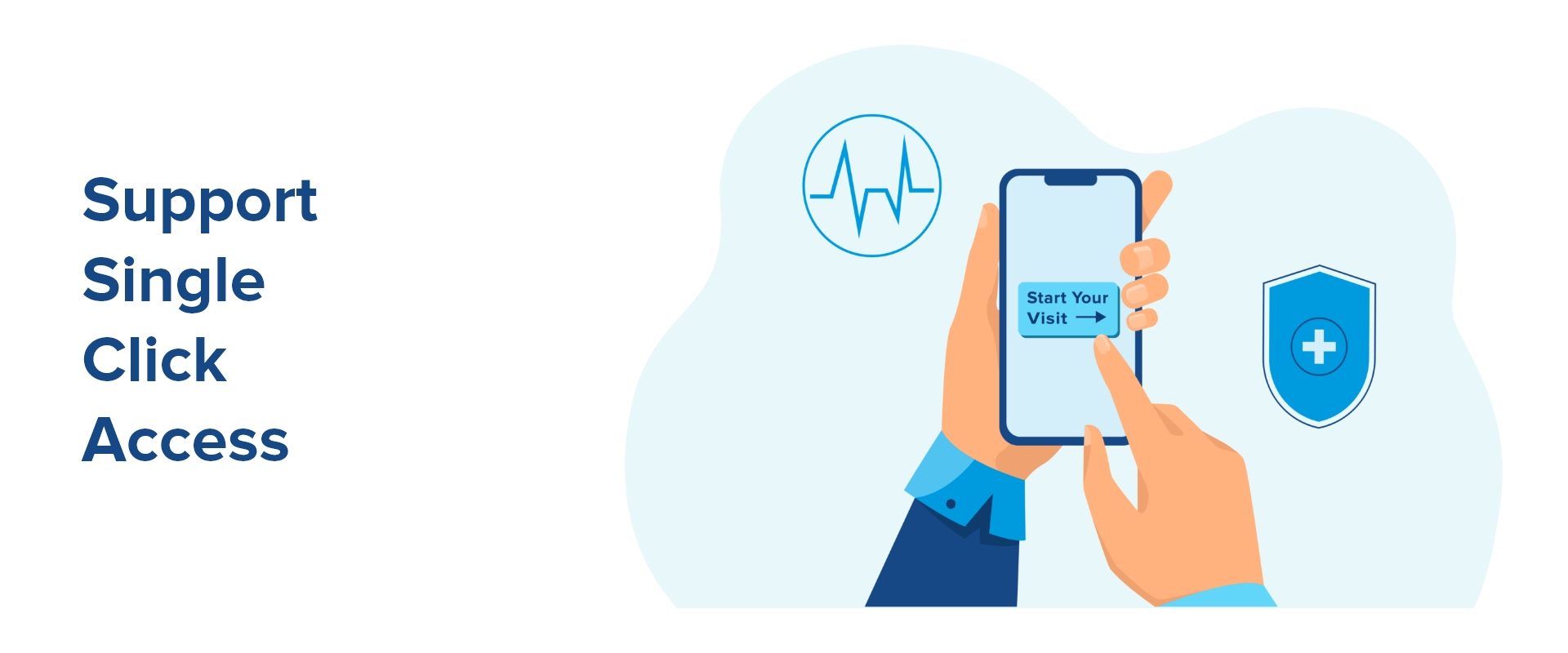 telehealth solution showing single click sign on