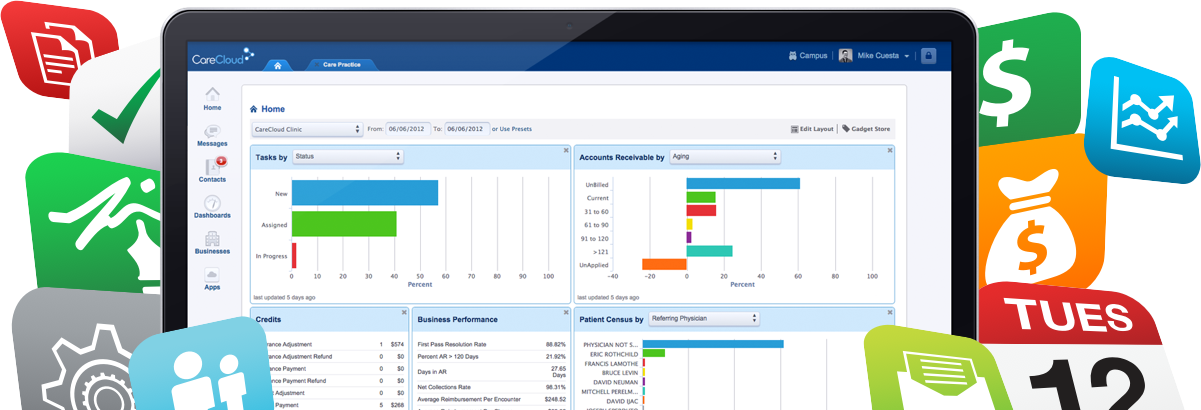 Central is an online practice management system with apps for medical billing and appointment scheduling.