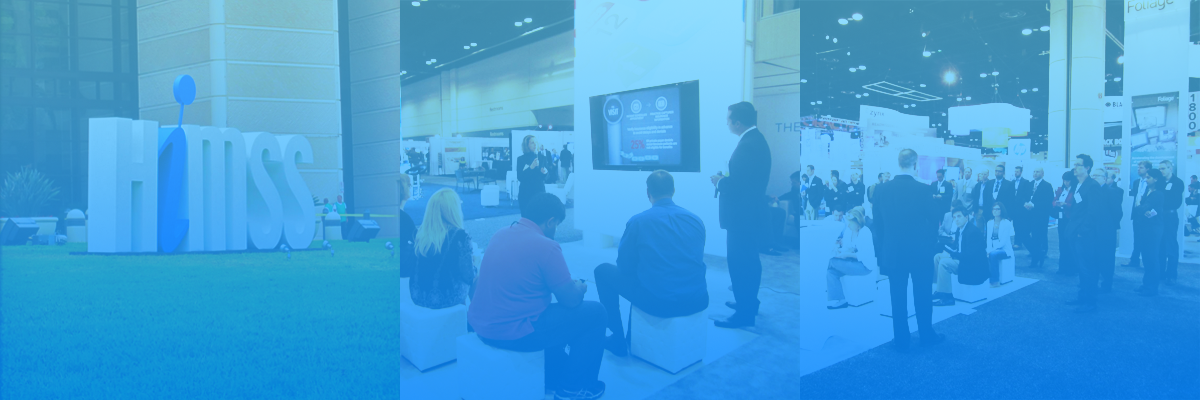 CareCloud booth at HIMSS in 2014