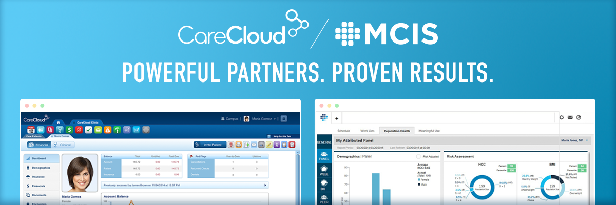 CareCloud and MCIS logo combination image
