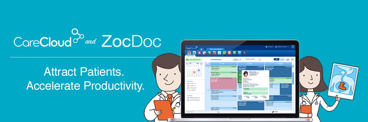 Blog image ZocDoc figures and CareCloud screenshot